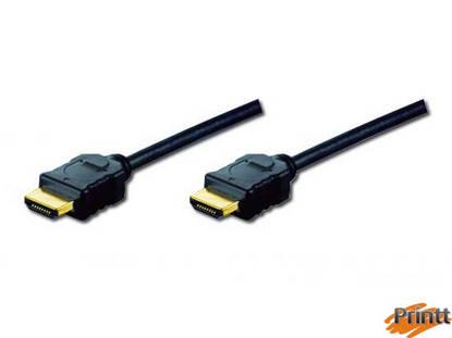 Immagine di CAVO DI COLLEGAMENTO HDMI 4K 3D CON ETHERNET CONNETTORI DORATI MT. 2