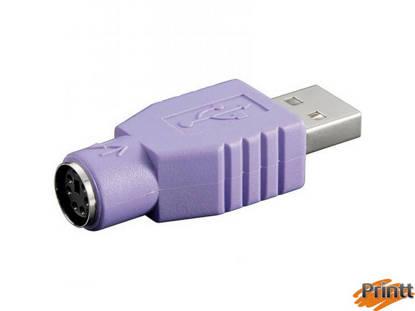 Immagine di ADATTATORE USB MASCHIO - PS2 FEMMINA PER TASTIERA