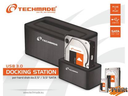 "Immagine di TECHMADE DOCKING STATION USB 3.0 SATA 3.5""-2.5"""