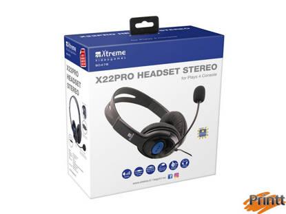Immagine di BASIC HEADPHONE 2,0 X22PRO CON MICROFONO PER PS4/XBOXONE/PC/VR