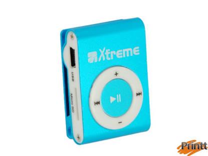 Immagine di LETTORE MP3 XTREME CON MICRO DA 4GB CLEAR BLU