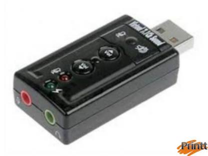 Immagine di ADATTATORE USB-AUDIO PER MICROFONO, CASSE O CUFFIE