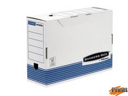 Immagine di SCATOLA ARCHIVIO C/COPERCHIO A RIBALTA BANKERS BOX SYSTEM