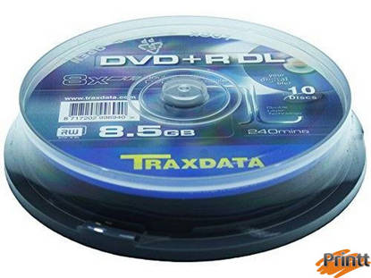 Immagine di DVD+R DL  dual layer Traxdata 8X camp. 10pz