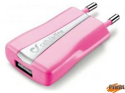 Immagine di CARICABATTERIA RETE USB CHARGER ROSA