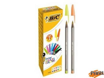 Immagine di Scatola 20 penna sfera CRISTAL® MULTICOLOR 1,6mm ink ass. BIC®