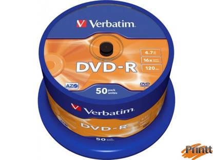 Immagine di DVD-R Verbatim 16X camp. 50pz 43548