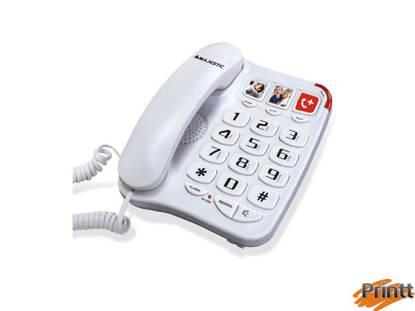 Immagine di TELEFONO FISSO MAJESTIC CON 3 TASTI MEMORIA PHF-BILLY-201 BIANCO