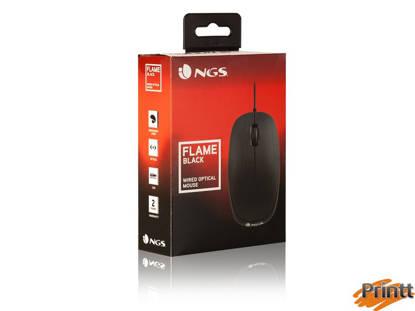 Immagine di MOUSE OTTICO 1000DPI USB 3 TASTI NERO NGS