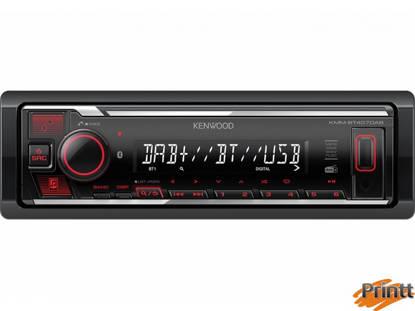 Immagine di Autoradio multimediale digitale con Bluetooth e radio digitale DAB + integrati.
