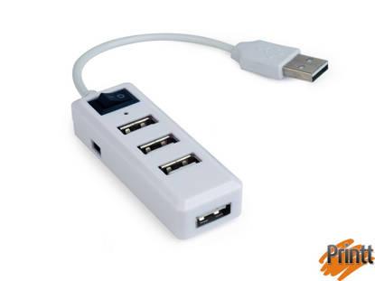 Immagine di TECHMADE GEMBIRD HUB USB 2.0 4 PORTE BIANCO CON SWITCH