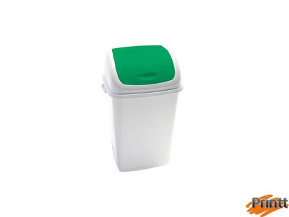 Immagine di Pattumiera a basculante 50Lt Rif Basic Bianco/Verde
