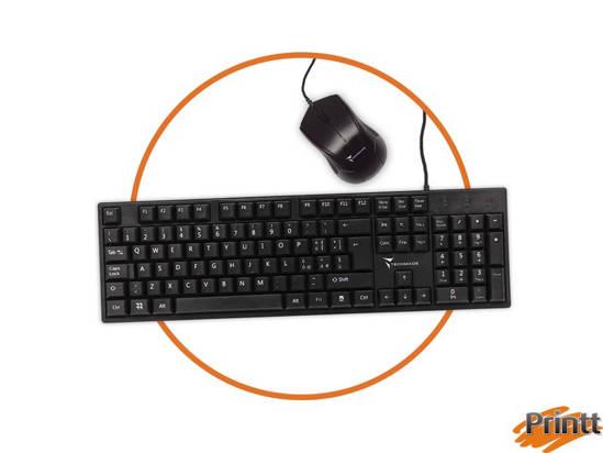 Immagine di TECHMADE KIT DI TASTIERA + MOUSE USB