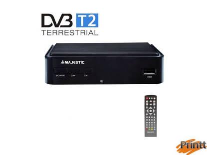 Immagine di DECODER DIGITALE TERRESTRE DVB-T/T2 HD USB MAJESTIC